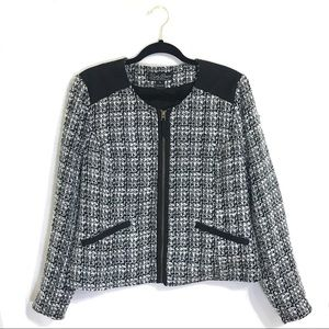 *SALE* Lucky Brand Black and white tweed zip up